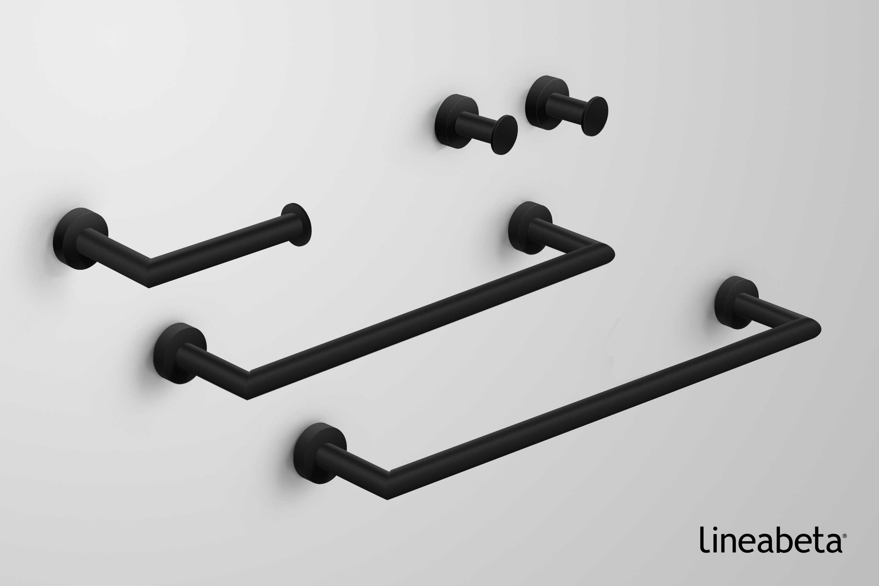 Accessori Bagno Neri baketo is the new black - bathroom accessories - lineabeta