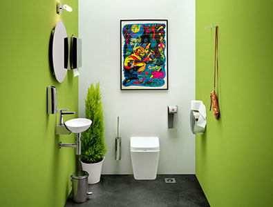 Furnish smarthly a small bathroom with Lineabeta